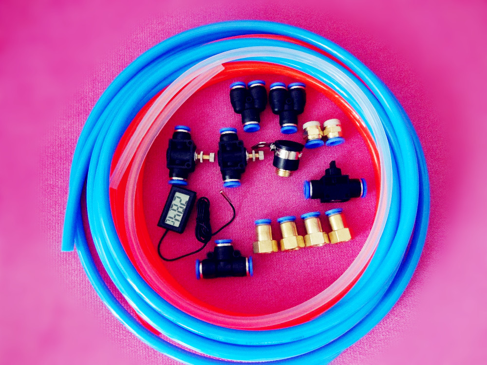 Free Shipping  One Set Of Cooling Water System For Home Brewing,Pneumatic Parts And Hoses yamaha pneumatic cl 16mm feeder kw1 m3200 10x feeder for smt chip mounter pick and place machine spare parts