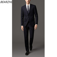 Wedding Suits Dark Navy Groom Tuxedo For Wedding Groomsmen Suit Classic Suit 207 Custom Made Suit