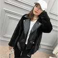 Autumn and winter new imported mink natural fur coat mink fur jacket first sheepskin female outwear motorcycle suit tide punk
