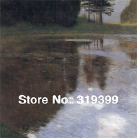 Gustav Klimt Oil Painting reproduction on Linen Canvas,Pond in the Morning,Free fastship,Handmade,Museum quality