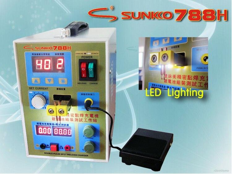 1 pc 110/220 V puissance 788 H deux en un Micro-ordinateur soudage par points et chargeur de batterie + 3mm 1 KG feuille de Nickel