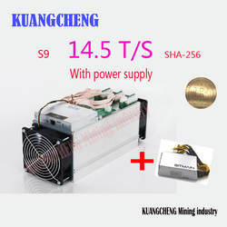 Используется 98% Новый AntMiner S9 14,5 T с APW3 PSU SHA256 Bitcoin БТД МПБ Шахтер лучше чем AntMiner S9 S9i 13 T 13,5 14 лет T9