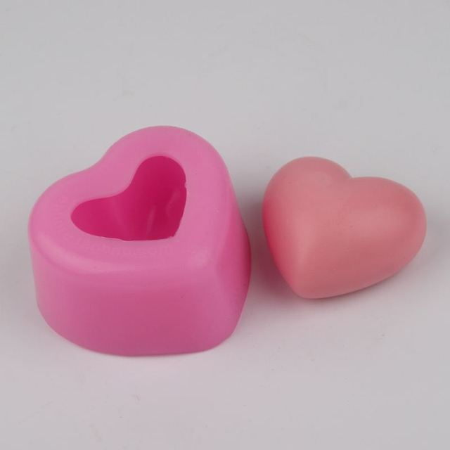 Heart Shaped Silicone Soap Mould Cake Decoration Mould Wedding