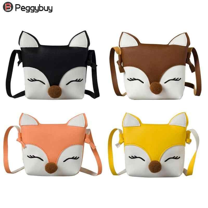 327be267c016 Hot Baby Fox Cute Wallet Kids Mini Bags PU Leather Shoulder Handbags Girls  Children Crossbody small Bags Coin Purses