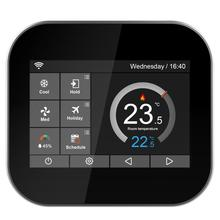 Фотография Wifi color touch screen thermostat for fan coil with English/Russian/Polish/Czech/Italian/Spainish control by android IOS phone