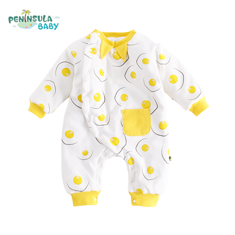 Autumn Winter Baby Rompers O-Neck Long Sleeves Cotton Boys And Girls Casual Clothing High Quality Infant Toddler Jumpsuit baby climb clothing newborn boys girls warm romper spring autumn winter baby cotton knit jumpsuits 0 18m long sleeves rompers