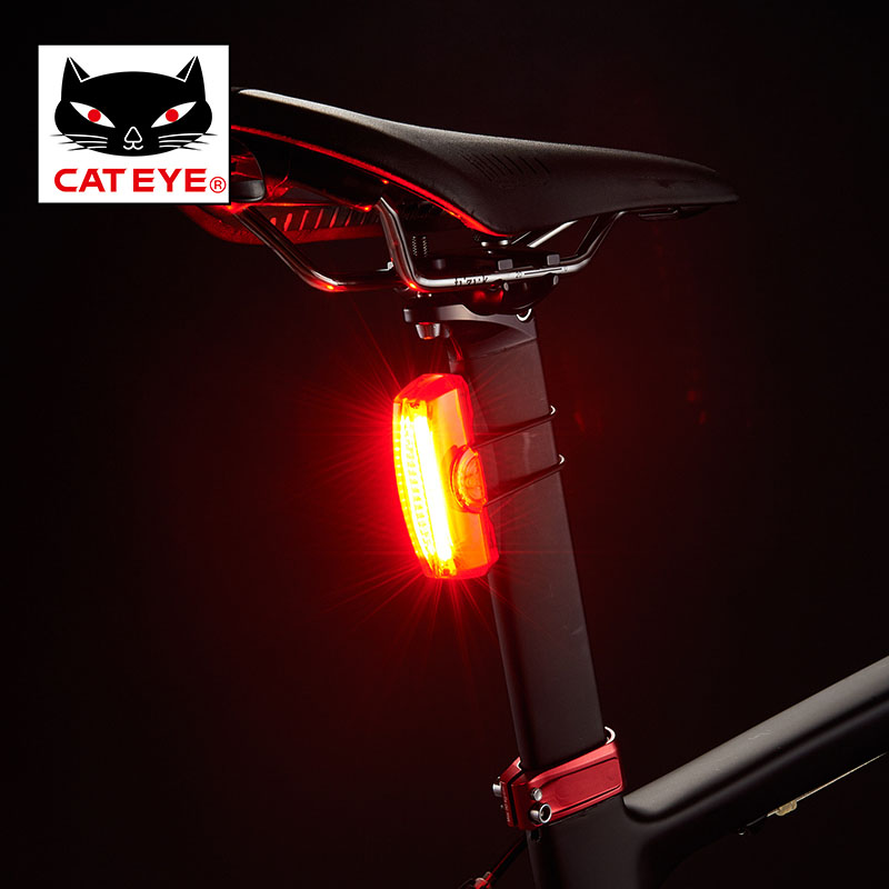 CATEYE Bicycle Tail Light Safety Warning Light 50 LM USB Rechargeable Mtb Bicicleta Lamp Cycling Rear Light Bike Accessories