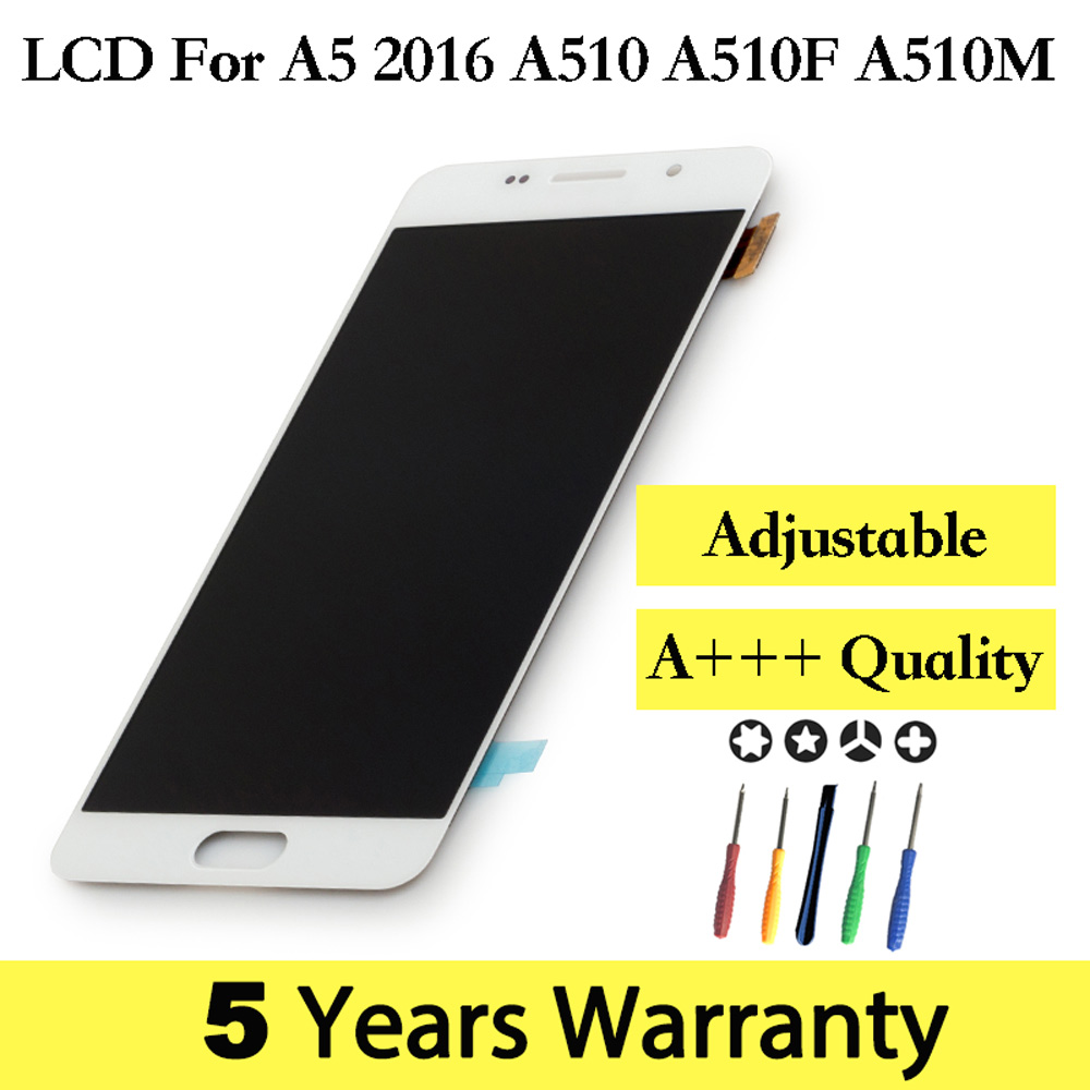 TFT New Lcd For Samsung A5 2016 A510F Display Adjustable Screen A510FD A510M Display For Samsung Galaxy A5 2016 A510F Assembly