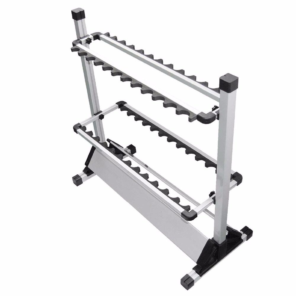 fishing rod rack stands support 24 pcs fishing rods, aluminium display rod rack modeling mixed species forest stands