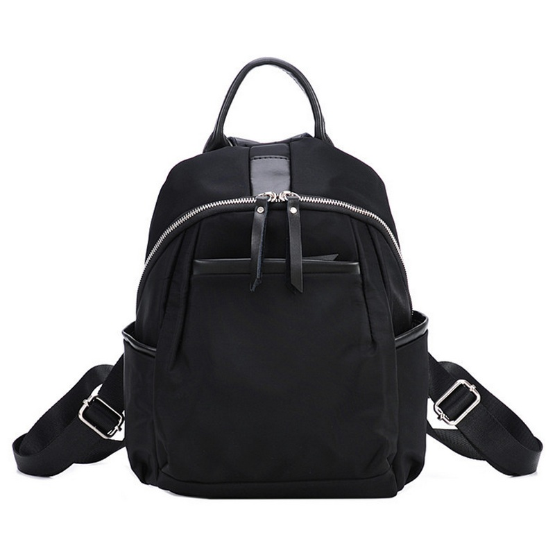 Women Han Edition Street Fashion Backpack Ladies Simple Polyester Backbag Mochila All-match Girls Small Oxford School Bags Black clinical cardiology made ridiculously simple edition 4 medmaster ridiculously simple