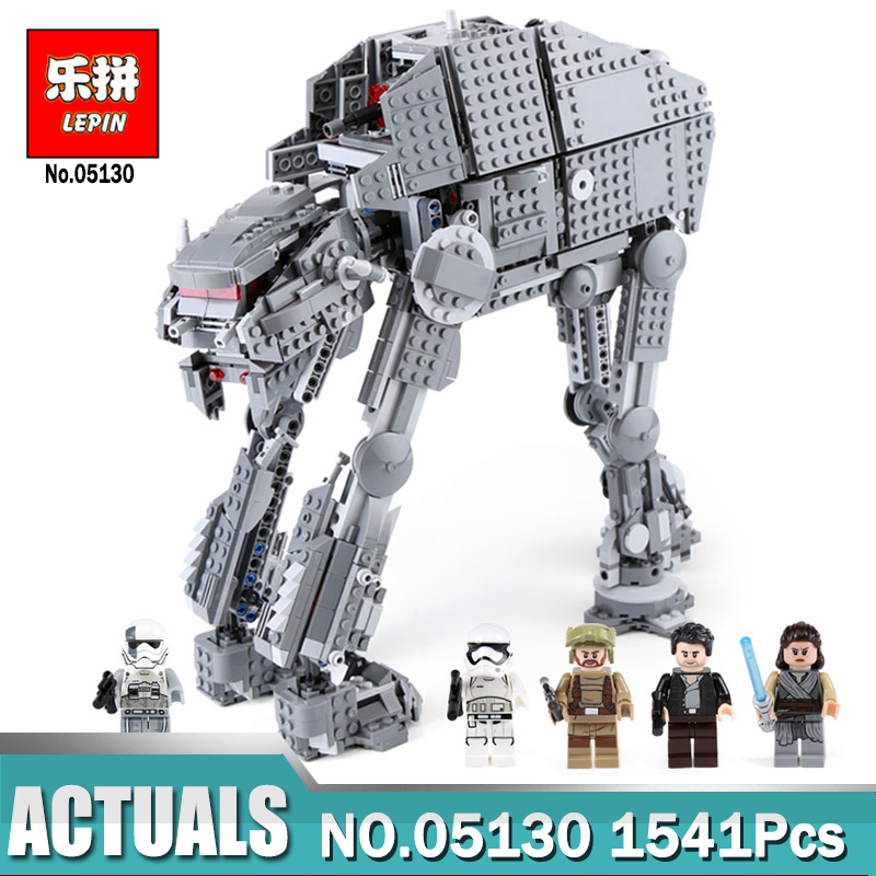 Lepin 05130 1541pcs The First Order Heavy Assault Walker Star Wars Lepin Building Blocks Compatible Legoing 75189 Brick Toy