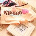 Boyshort algodão mulheres boxer linda beijos carta boyshorts underwear low-rise respirável senhoras lingerie calcinhas adolescentes