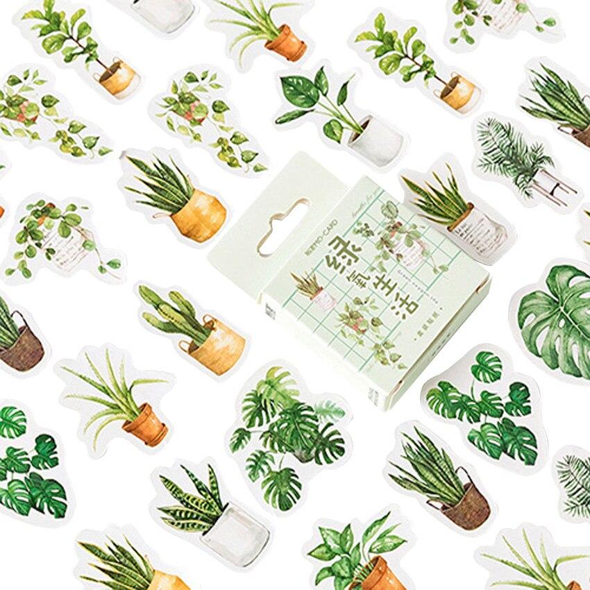 20 10packs lot adoravel verde vida oxigenio da etiqueta de papel adesivo diario scrapbooking adesivo decorativo