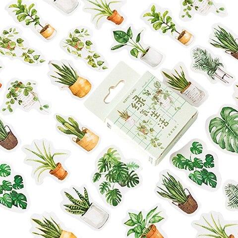 20 10packs lot adoravel verde vida oxigenio da etiqueta de papel adesivo diario scrapbooking adesivo