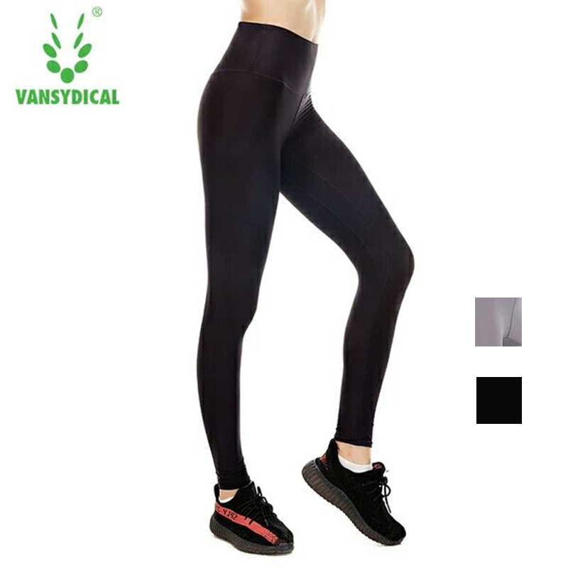 Strumpfhosen Vansydical High-taille Yoga Hosen Frauen Strumpfhosen Elastische Quick Dry Lauf Fitness Sport Leggings Training Jogging Gym Bottoms