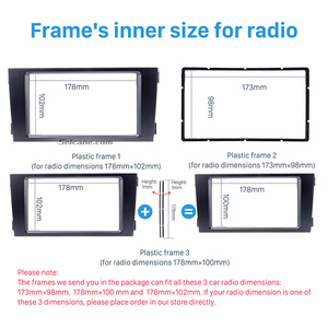 Image 4 - Seicane Car Double Din Stereo Fascia Panel Adaptor DVD Frame Trim For Audi A6 C5 Refit Bezel Marco Dashboard Installation Kit