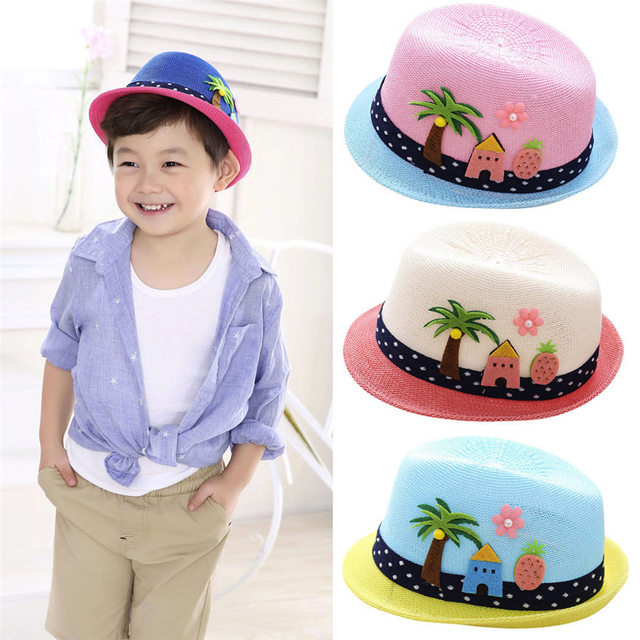3892794a3c3 2018 Cute Summer Baby Hat Cap Children Breathable Hat Show Kids Hat Boy  Girls Hats Caps For 2~6 Age Dropshipping 0314