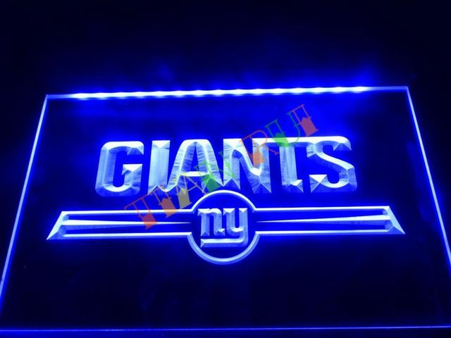 Ld051 Ny New York Giants Bar Logo Led Neon Light Sign Home Decor Crafts
