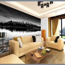 beibehang 3d Wallpaper Snow Mountain Lake Photography Background Modern Art Mural for Living Room Large Painting Home Decor