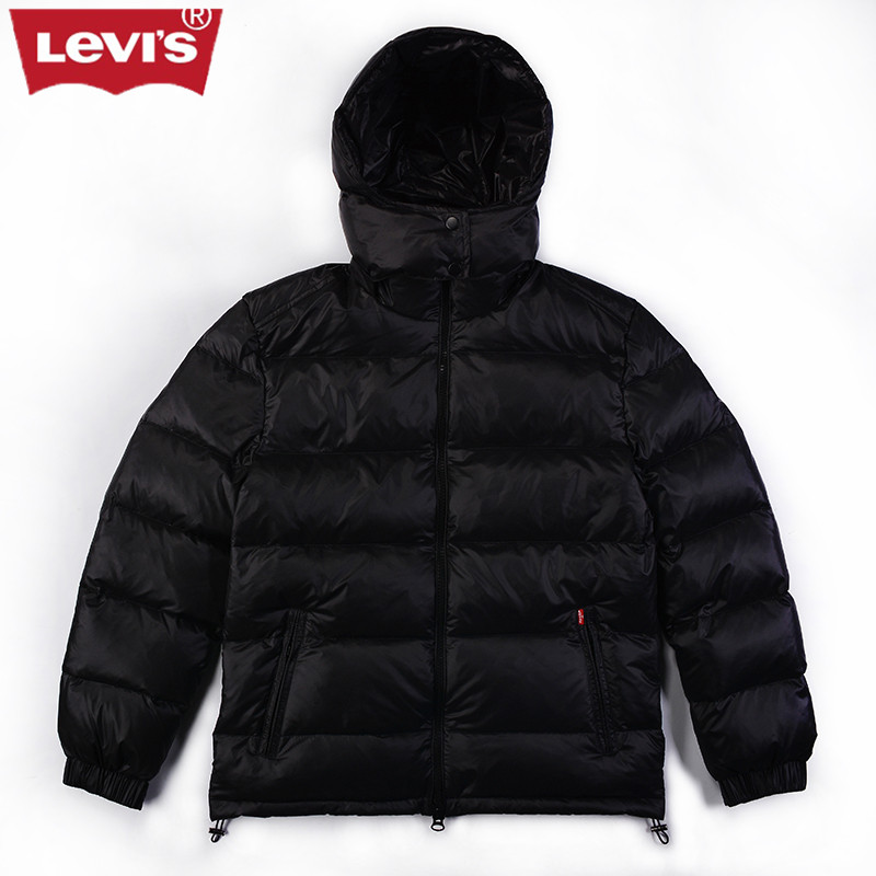 Levi's Winter Jacket Duck Men Down Coat 2017 Warm Parka Women Long Down Wool Jacket Parka High Quality Outerwear Winter Clothing 2016 new high quality brand men winter cotton down jacket coat parka clothing men and women hooded warm outerwear overcoat