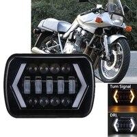 오토바이 5X7 7x6 LED 헤드 라이트 하이 로우 빔 H4 어댑터 스즈키 카타나 용 Kuwasaki GPZ 750 900