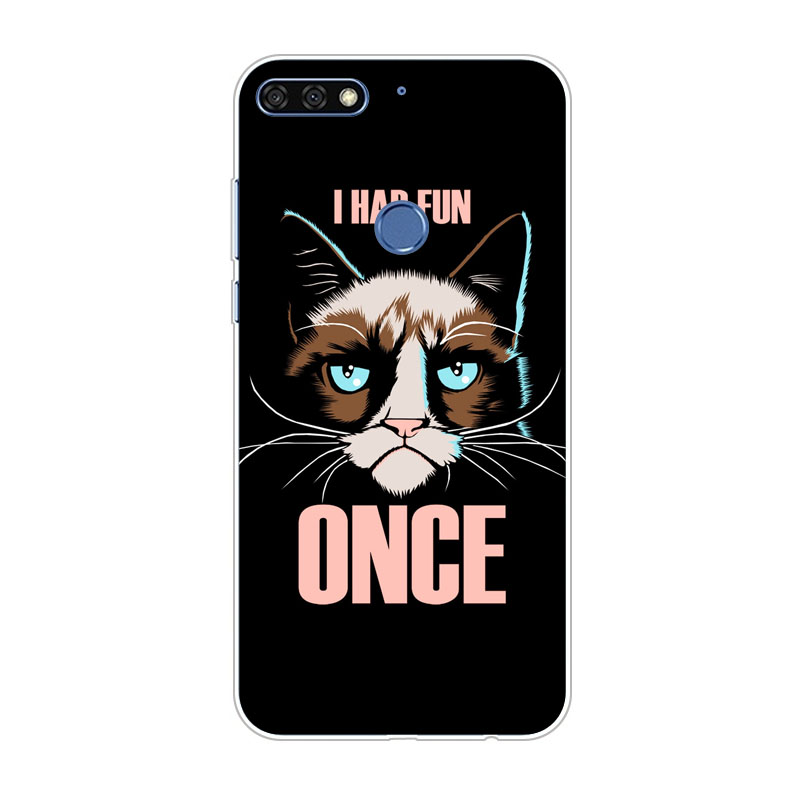 huawei Y7 pro 2018 case,Silicon Gossip fish Painting Soft TPU Back Cover for huawei Y7 pro 2018 protect Phone shell