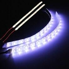 2 adet su geçirmez beyaz işık 25cm esnek 15 LED 5630 LED şerit ışıklar 12V DC araba tekne karavan motosiklet
