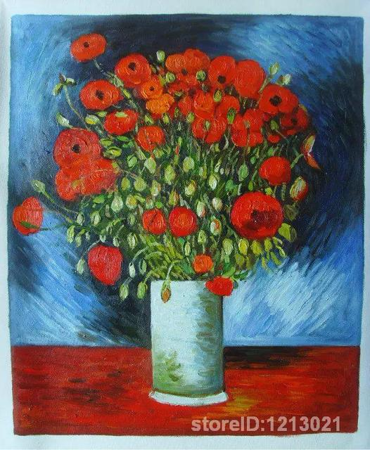 Famous artworkVincent Van Gogh oil Painting ReproductionVase of FlowersHand-paintedHigh quality  sc 1 st  AliExpress & Famous artworkVincent Van Gogh oil Painting ReproductionVase of ...