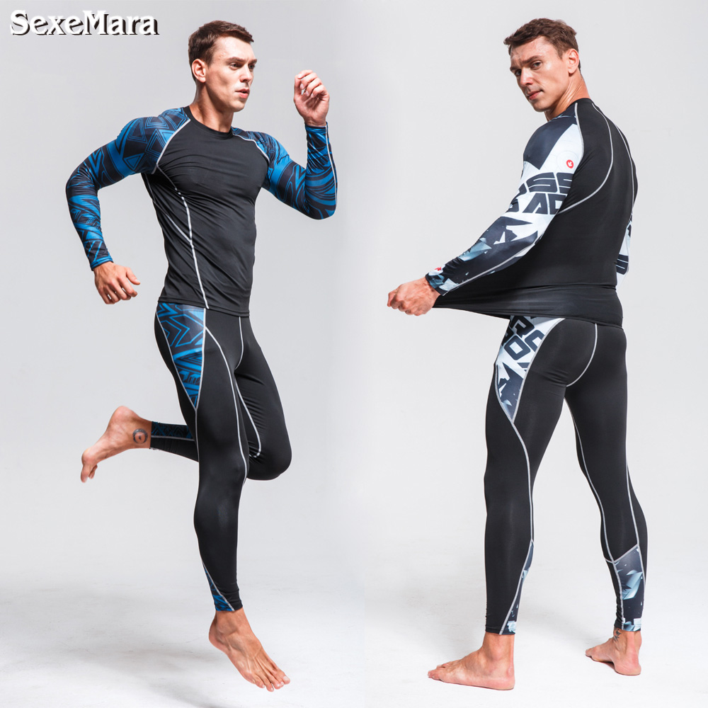 Underwear Tights Sports-Suits Rashgard Compression Long-Johns for Men GYM Training Men's