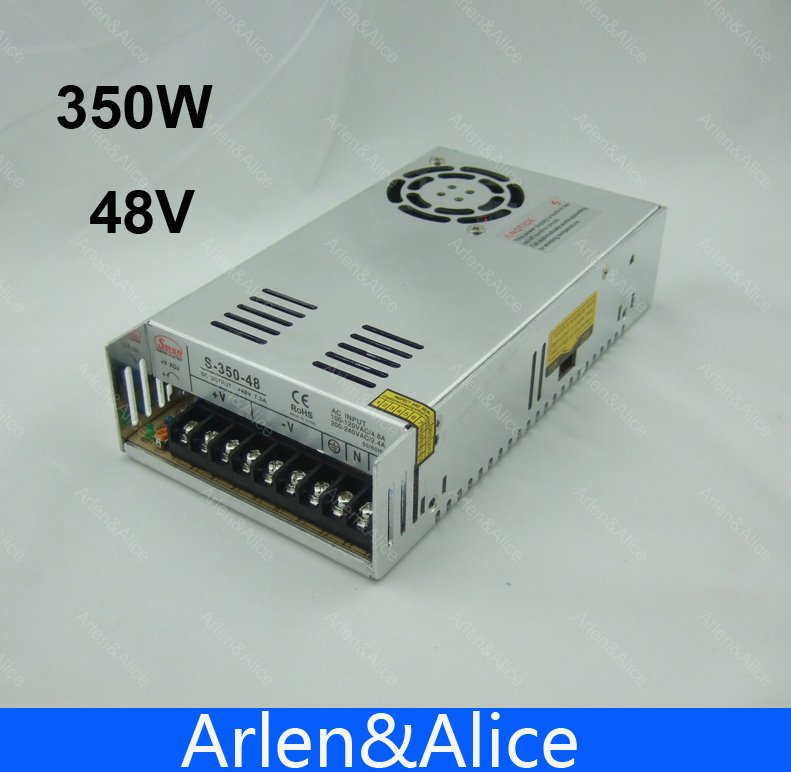 350W 48V 7.3A Single Output Switching power supply for LED Strip light AC to DC ac 85v 265v to 20 38v 600ma power supply driver adapter for led light lamp