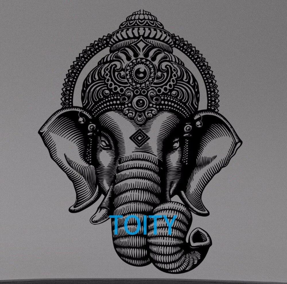 Ganesha Elephant Crown Wall Decal Hindu Gods Vinyl Sticker