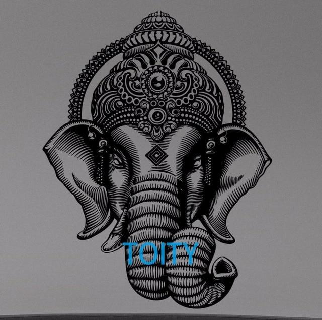 Ganesha Elefante Corona Pared Dioses Hindúes Vinilo Interior