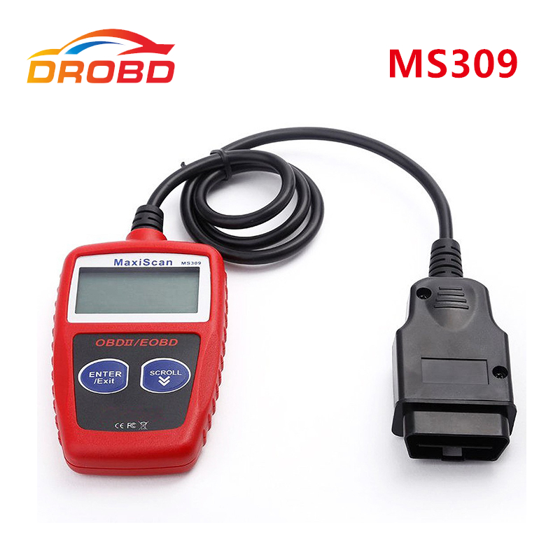 New Arrival MaxiScan MS309 OBD2 OBDII Scanner Code Reader Car MS 309 Diagnostic-Tool Free Shipping