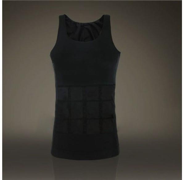 Hot sales Men Shaper Vest Body Slimming Tummy Belly Waist Girdle Shirt Shapewear Underwear 14