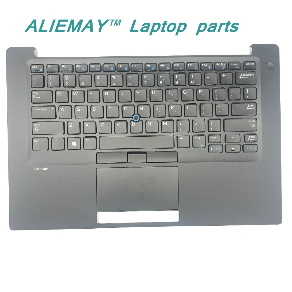 brand new original laptop parts for DELL LATITUDE E7480 7480 Backlit  Trackpoint US keyboard palmrest with touchpad new laptop keyboard for dell inspiron 15 5000 5565 5567 us backlit keyboard with palmrest upper pt1ny 0pt1ny