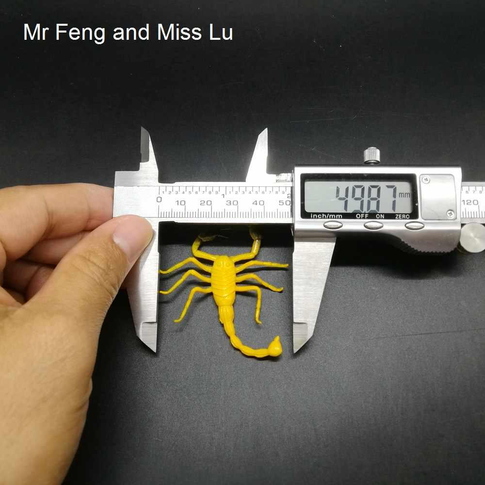 Amarelo Mini Escorpião Inserir Gags Novidade Brinquedos Ciências Da Natureza Do Jogo Modelo