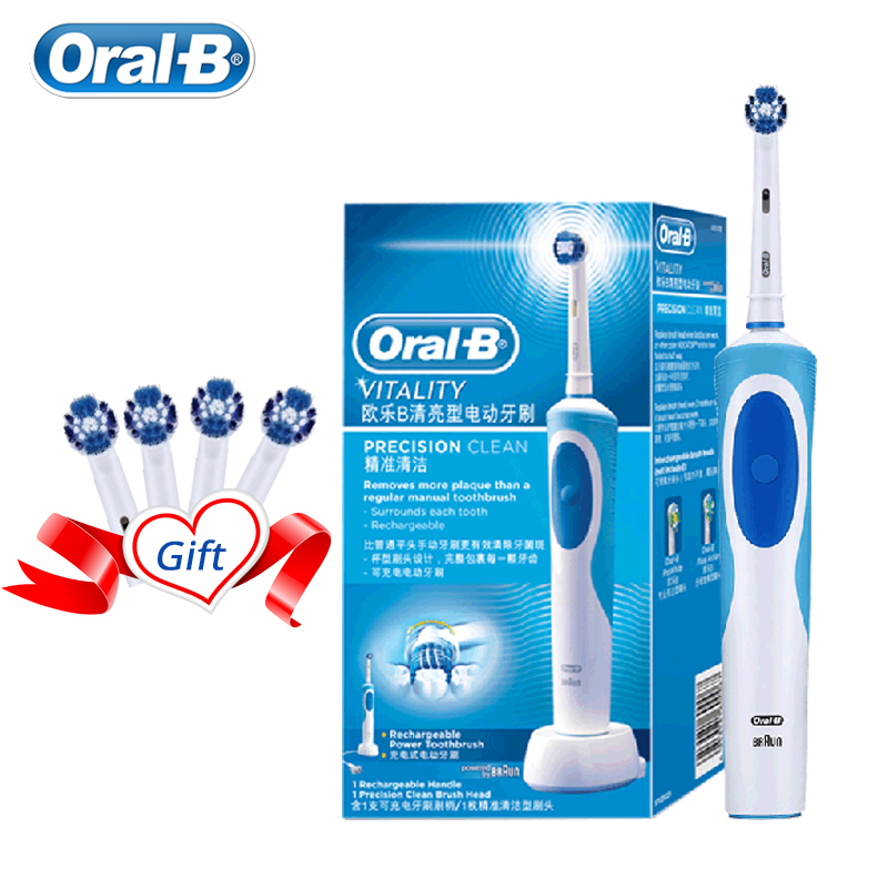 Oral B Electric Toothbrush 2D Clean Rotating Toothbrush Rechargeable Toothbrush Teeth Dual Clean Brush Heads image