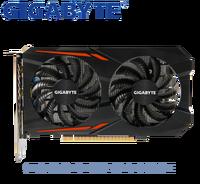 Используется GIGABYTE NVIDIA GPU, графический ппроцессор Nvidia GTX 1050 2 г Windforce Графика Видеокарта Двойной HDMI DVI порт Поддержка LOL PUBG CSGO