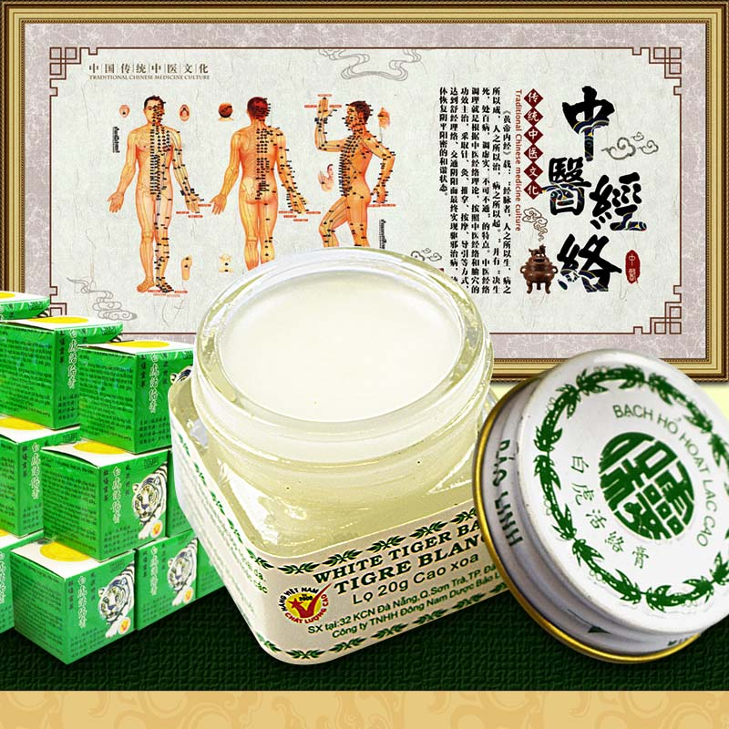 Original White Vietnam Tiger Balm Oil Natural Herb White Tiger Transdermic Anelgesic Cream for Headache