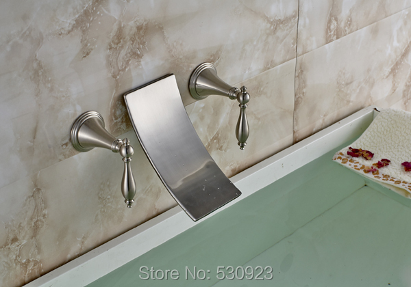 Vasca Da Bagno Montaggio : New diffuso cascata vasca da bagno rubinetto nichel spazzolato 3 pz