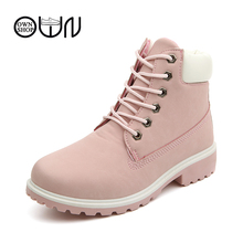 women boots brown worker womens shoes ankle leather boots women winter boots worker ankle 2016 snow