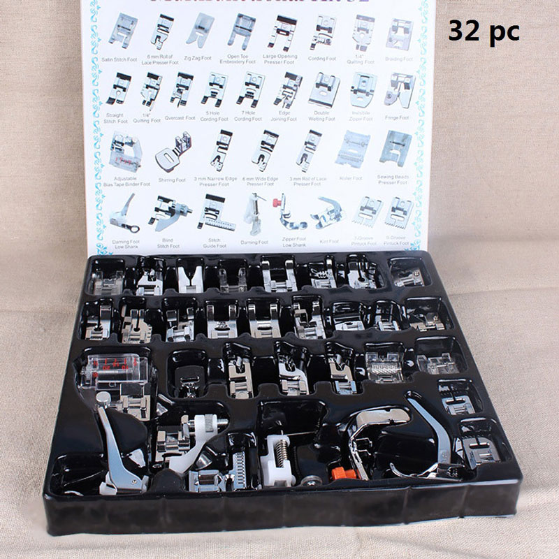 3/11/32/35/41/52/62pcs Mini Domestic Sewing Machine Braiding Blind Stitch Darning Presser Foot Feet Kit Set For Brother Singer