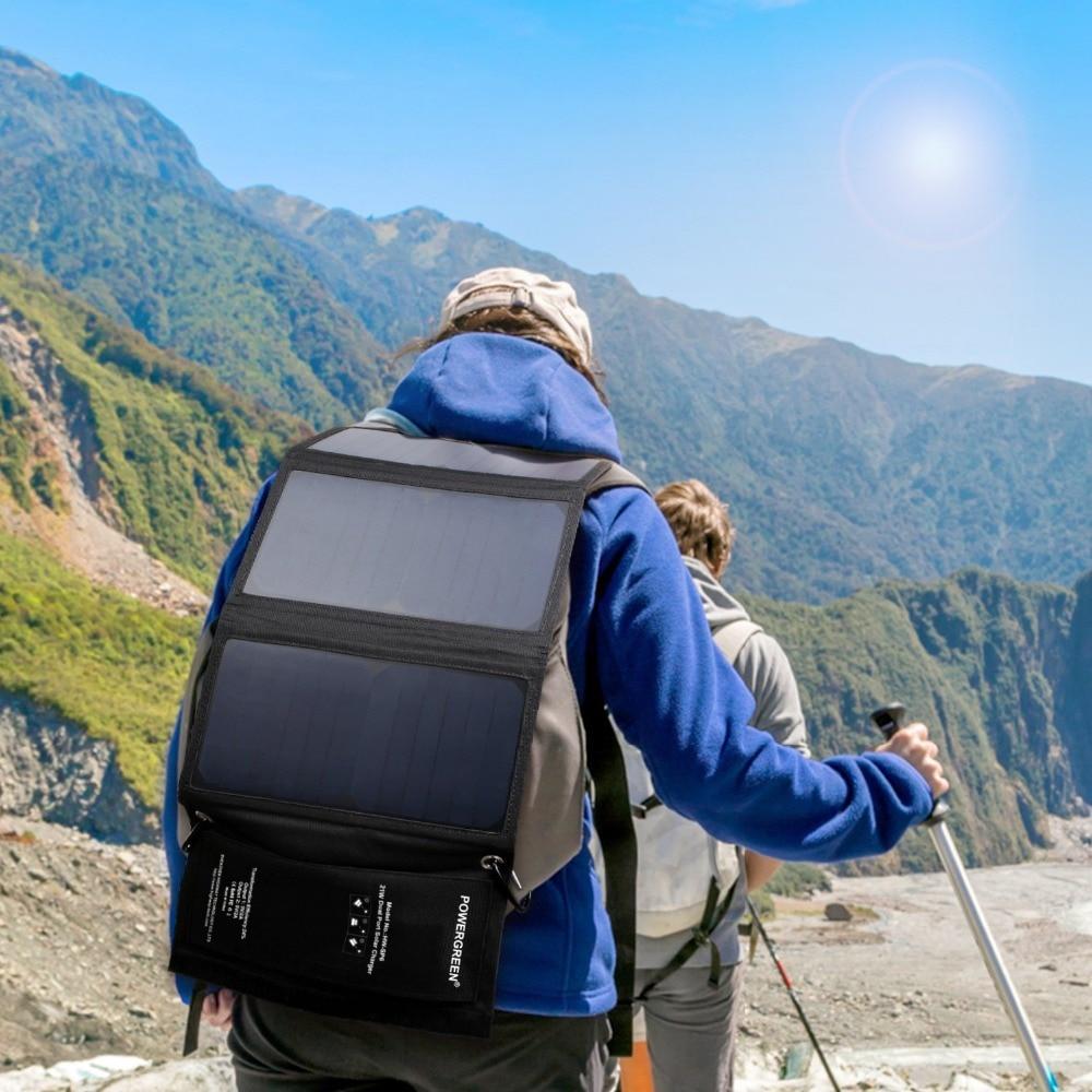 PowerGreen Faltbares Telefon Solarladegerät 21 Watt Tragbares 5V 2A - Handy-Zubehör und Ersatzteile - Foto 5