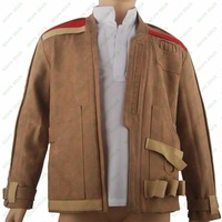 Star Wars 7 VII The Force Awakens Pilot Finn Coat Jacket Outfit Halloween Comic Con Cosplay