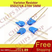 1 лот = 20 шт. Варистор резистор 05D271K 270 В 5 мм Series05D
