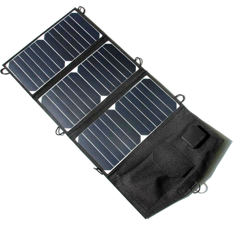 ФОТО 21W Portable Sunpower Solar Charger For iPhone/Rechargeable Battery/Power Bank Outdoor Camping High Efficiency&Quality 2PCS/Lot