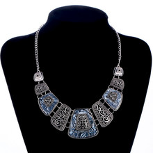 Vintage Statement Necklaces Jewelry Gem Geometric Choker Collar Necklace Fashion Bijoux Pendants & Necklace For Women Wholesale(China)