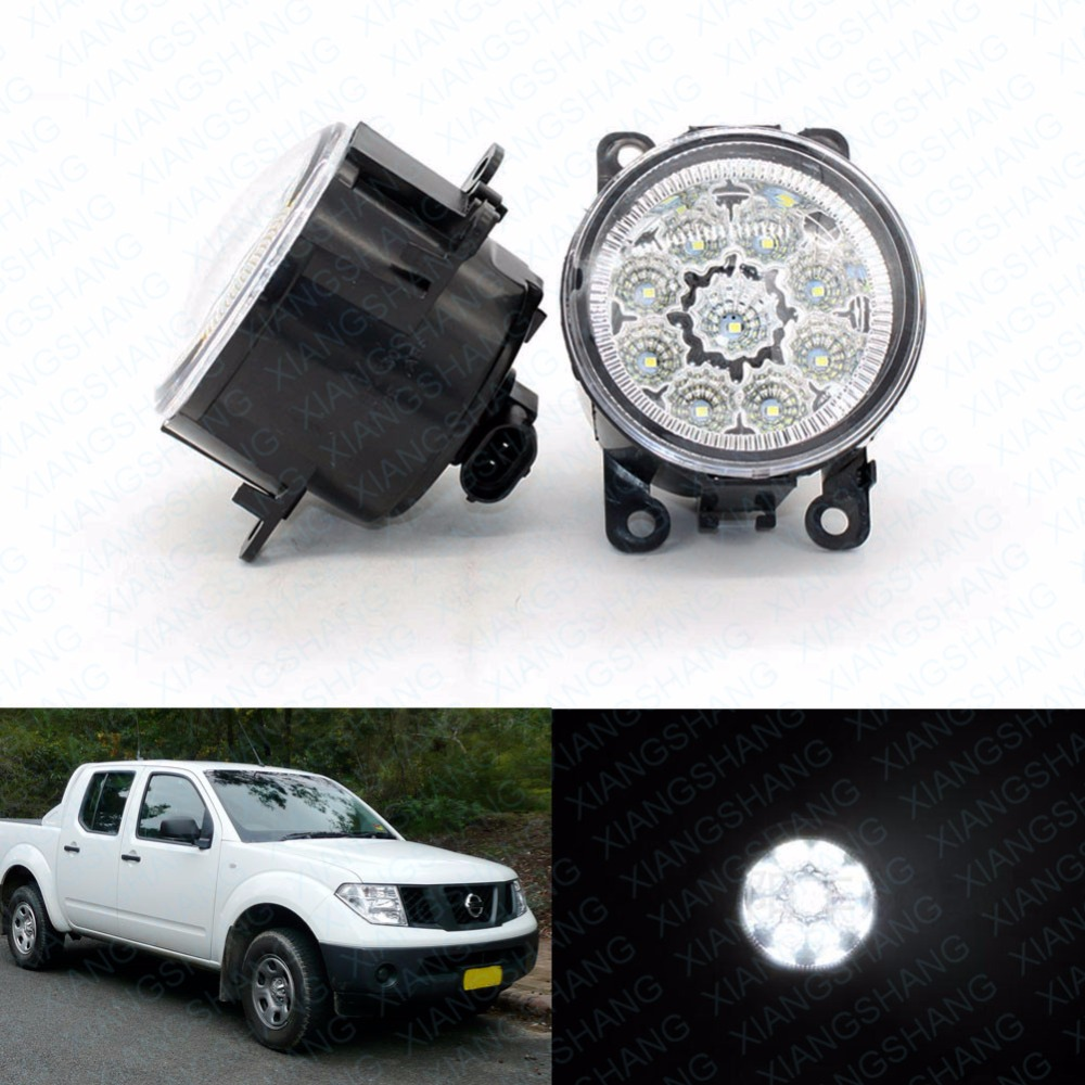 LED Front Fog Lights For Nissan Sentra 2007-2008 2009 2010 2011 2012 Car Styling Round Bumper DRL Daytime Running Driving car rear fog bumper lamp reverse brake lights for nissan qashqai 2007 2008 2009 2010 2011 2012 2013 2014 2015