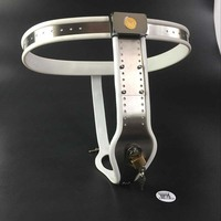 Stainless Steel Female Pants Chastity Belt with Anal Plug Chastity Lock Virginity Pants Adult Game Sex Toys for Women G7-5-36