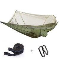 New Outdoor Camping Parachute Hammocks Automatically Open Mosquito Net Hamac Survival Travel Hiking Trekking Sleeping Tent